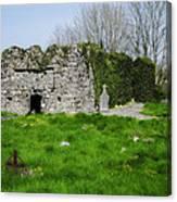 Kilmore Church Ruins - Founded By St Patrick - Ballina Co Mayo Canvas Print