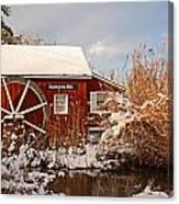 Kimberton Mill After Snow Canvas Print