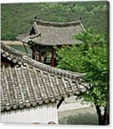 Kimchi Pots, Tiles And Lanterns Canvas Print