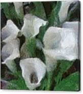 Kim's Flowers Canvas Print