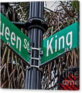 King And Queen Street Canvas Print