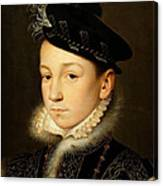 King Charles Ix Of France Canvas Print