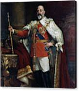 King Edward Vii Of England (1841-1910) Canvas Print