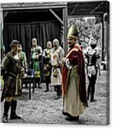 King Macbeth Of Scotland With The Bishop Canvas Print