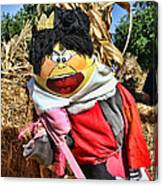 King Of Hearts Scarecrow By Diana Sainz Canvas Print