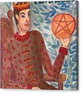King Of Pentacles Canvas Print