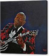 King Of The Blues Canvas Print