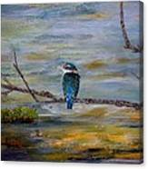 Kingfisher Over Estuary Canvas Print
