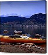 Kings Beach - Okanagan Lake - Kayaking Canvas Print