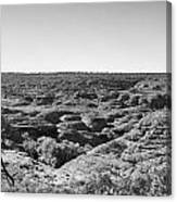Kings Canyon Black And White Canvas Print