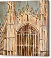Kings College Chapel Canvas Print