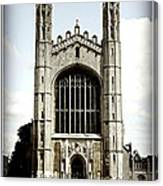 King's College Chapel - Poster Canvas Print