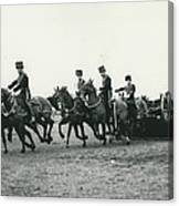 King�s Troop Of The R.h.a. Rehearse�. Even The Gun Goes Canvas Print