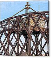Kinnickinnic River Swing Bridge  4 Canvas Print