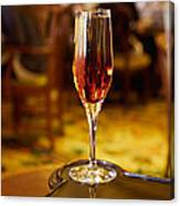 Kir Royale In A Champagne Glass Canvas Print