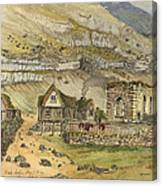 Kirk G Boe Inn And Ruins Faroe Island Circa 1862 Canvas Print