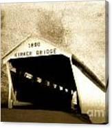 Kirker Covered Bridge  35-01-10 Canvas Print