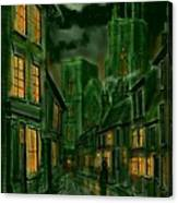 Kirkgate And Bridlington Priory By Moonlight Canvas Print