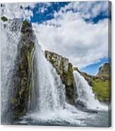 Kirkjufellsfoss Waterfalls, Church Canvas Print