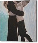 Kiss In The Rain Canvas Print