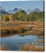 Kiss Of Fall In The Grand Tetons Canvas Print