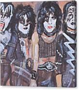 Kiss Rock Band Canvas Print