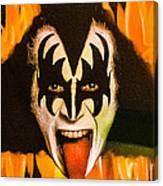 Kiss The Demon Canvas Print