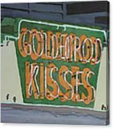 Kisses Neon Sign Canvas Print