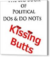 Kissing Butts Book Cover Canvas Print