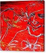 Kissing Couple Canvas Print