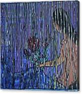 Kissing Rain Canvas Print