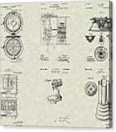 Kitchen Household Patent Collection Canvas Print