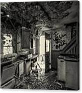 Kitchen In Decay Canvas Print