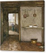 Kitchen Interior, C.1899 Canvas Print