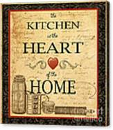 Kitchen Is The Heart Canvas Print
