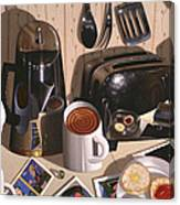 Kitchen Table No.1 1994   Skewed Perspective Series 1991 - 2000 Canvas Print