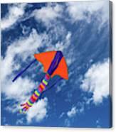 Kite Flying In Sky Canvas Print