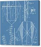 Kite Patent On Blue Canvas Print