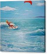Kite Serf Canvas Print