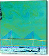 Kiteboarding The Bay Canvas Print