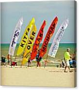 Kites Over Lake Michigan - Two Rivers Wi Canvas Print