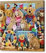 Kitten Dress Box Ck526 Canvas Print