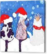 Kitty Christmas Canvas Print