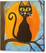 Kitty Of The Night Canvas Print