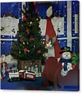 Kitty Says Merry Xmas Canvas Print