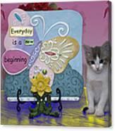 Kitty Says Wow Canvas Print