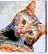 Kitty Strange Canvas Print
