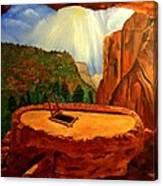 Kiva In Bandelier National Monument Canvas Print