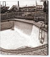Kiva Motel -  Empty Pool Canvas Print