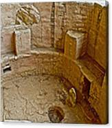Kiva With Sipapu In Spruce Tree House On Chapin Mesa In Mesa Verde National Park-colorado Canvas Print